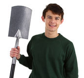 Gardener with a spade Stock Photos