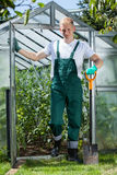 Gardener with a spade Royalty Free Stock Photo