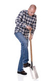 Gardener with spate Stock Image