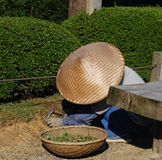 Gardener with straw hat Japan Stock Photos
