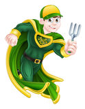 Gardener Super Hero Royalty Free Stock Image
