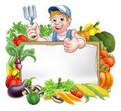 Gardener Vegetables Sign Stock Photos