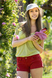 Gardener  walking in the park Stock Photography