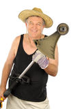 Gardener With Whipper Snipper Royalty Free Stock Photos