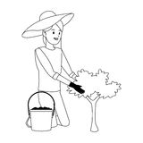 Gardener woman icon Stock Photography