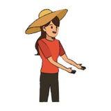 Gardener woman icon Stock Photo