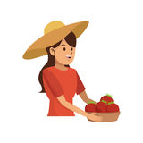 Gardener woman icon Royalty Free Stock Images