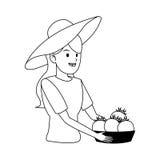 Gardener woman icon Stock Images