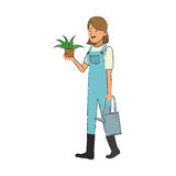 Gardener woman icon Stock Photos