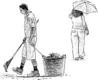 Gardener and woman Stock Photo