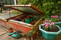 Gardeners Cold Frame Royalty Free Stock Photos