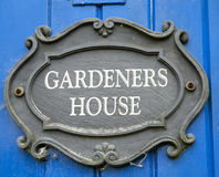 Gardeners house Stock Photography