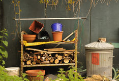 Gardeners junk pile Royalty Free Stock Image
