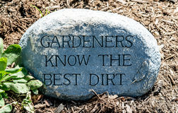 Gardeners know the best dirt Royalty Free Stock Photo