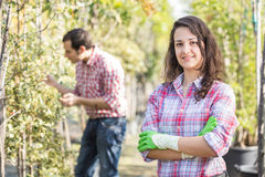 Gardeners at Work Royalty Free Stock Photography