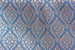 Gardenia Designed Thai Silk Images stock