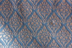 Gardenia Designed Thai Silk Image stock