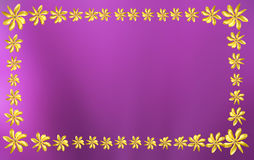 Gardenia flower frame Royalty Free Stock Images