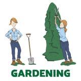 gardening vektor abbildung