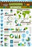 Gardening and farming vector infographics vector illustration