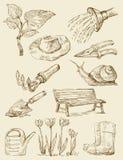 Gardening background Stock Images