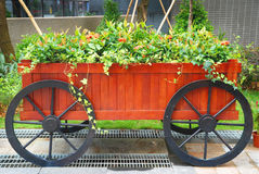 Gardening cart Stock Photo