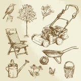 Gardening collection vector illustration