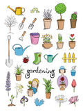 Gardening color icons  collection Stock Images