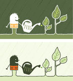 Gardening colored cartoon Stock Photo