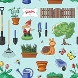 Gardening colorful pattern Stock Images