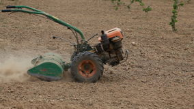 Gardening Cultivator Tractor stock footage