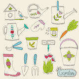 Gardening design elements Royalty Free Stock Image
