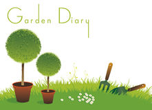 Gardening Diary Cover Royalty Free Stock Photo