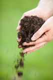 Gardening with dirt Royalty Free Stock Images
