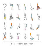Gardening element tools, illustration vector. Royalty Free Stock Images