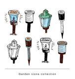 Gardening element tools, illustration vector. Stock Image