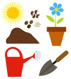 Gardening elements Stock Photos