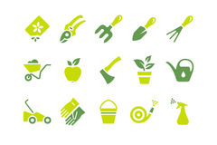 Gardening_Equipment_Icons_Set Fotografia de Stock