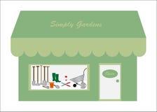Gardening Equipment Shop / Store Logo Royalty Free Stock Photo