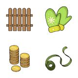 Gardening, finance and other web icon in cartoon style.clothing, fitness icons in set collection. Gardening, finance and other  icon in cartoon style.clothing Royalty Free Stock Photo