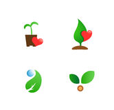 Gardening flat vector symbols for branding Royalty Free Stock Images