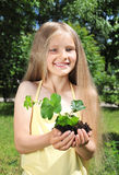 gardening girl Royalty Free Stock Photos