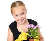 Gardening girl Stock Photos