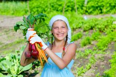 Gardening girl Stock Photo