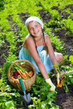 Gardening girl Royalty Free Stock Photo