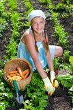 Gardening girl Stock Image