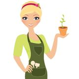 Gardening girl Stock Photography