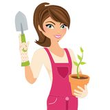Gardening girl Stock Photos