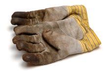 Gardening gloves. Isolated on white background stock photography
