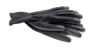 Gardening gloves on a white background Stock Photography